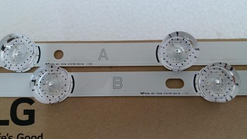 barra de led tv lg 49lb5500 49lb5600 49lb6200 barra a ou b