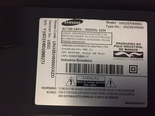 barra de led tv samsung 32eh5000 (kit completo)