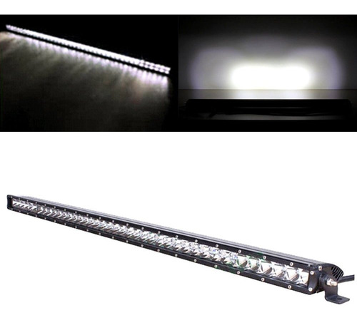 barra de luces led,  w slim led light bar cree flood sp...