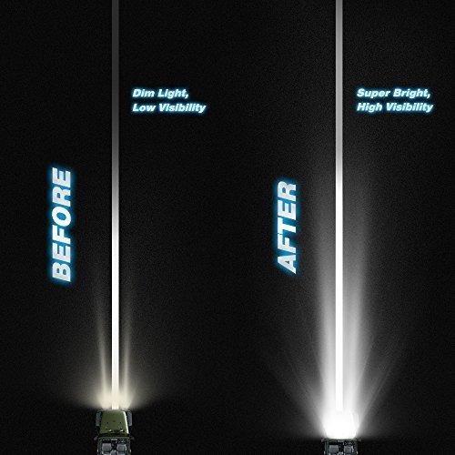 barra de luz led nilight 52 pulgadas de luz led de trabajo s