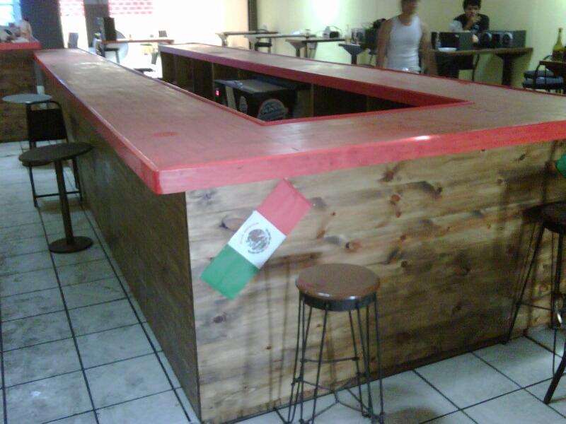 Barra de madera para bar o cantina 40 en for Bar de madera mercadolibre