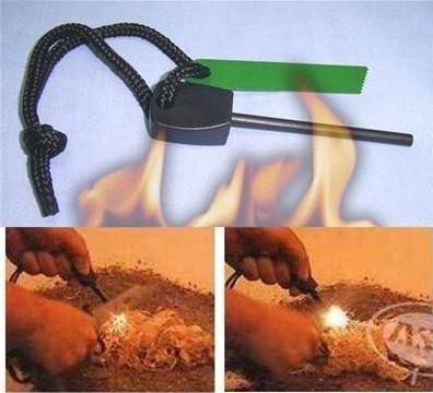 barra de magnesio, ideal para camping y supervivencia