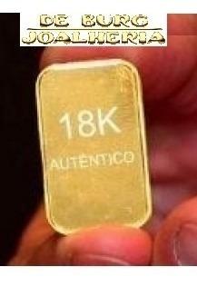 barra de ouro 18k 5g certificado cartão 12x sem juros   novo