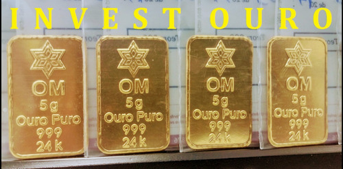 barra de ouro 24k 5 gramas ouro minas lacrada frete grátis