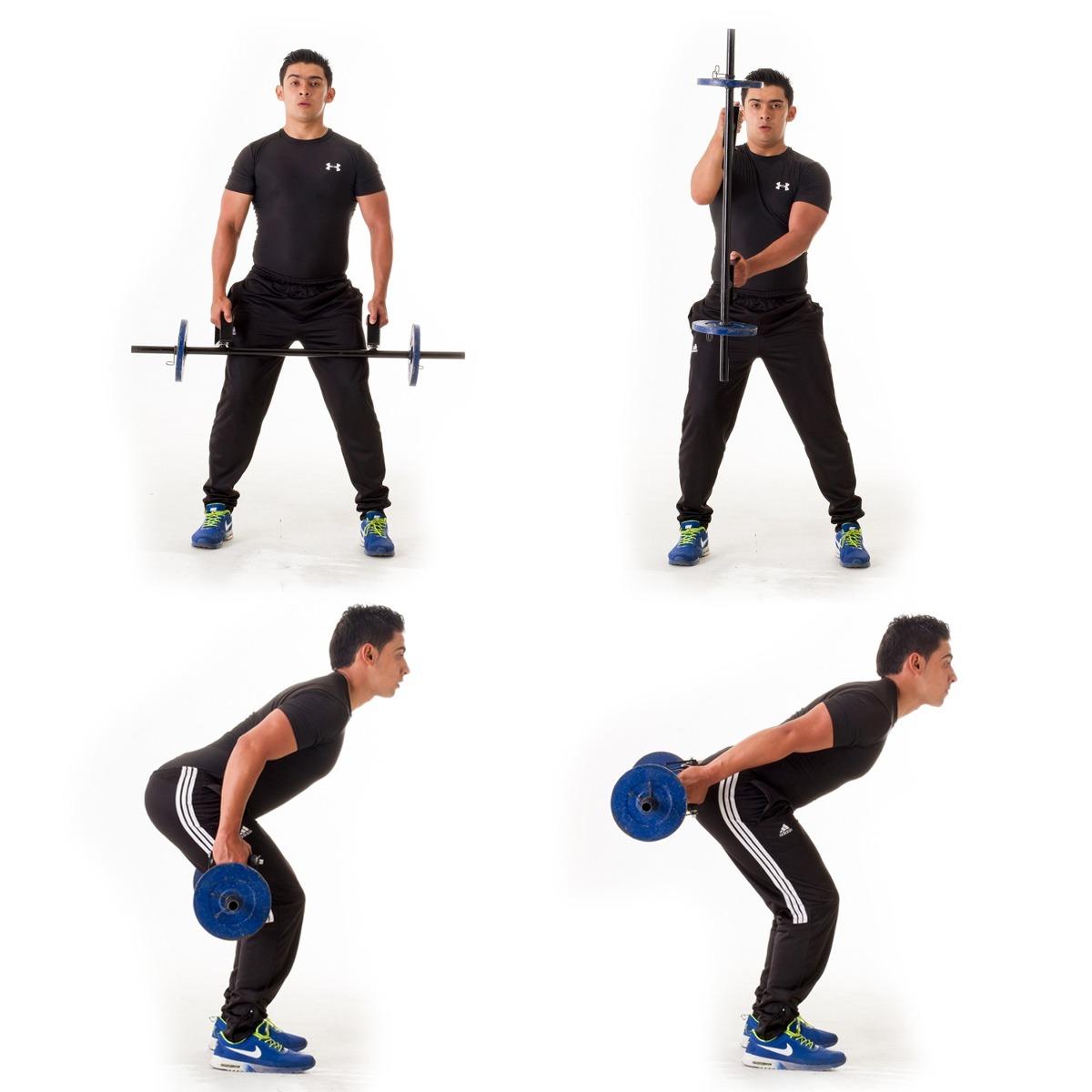 Barra de pesas funcional mas de 20 ejercicios gym 90 for Ejercicios de gym