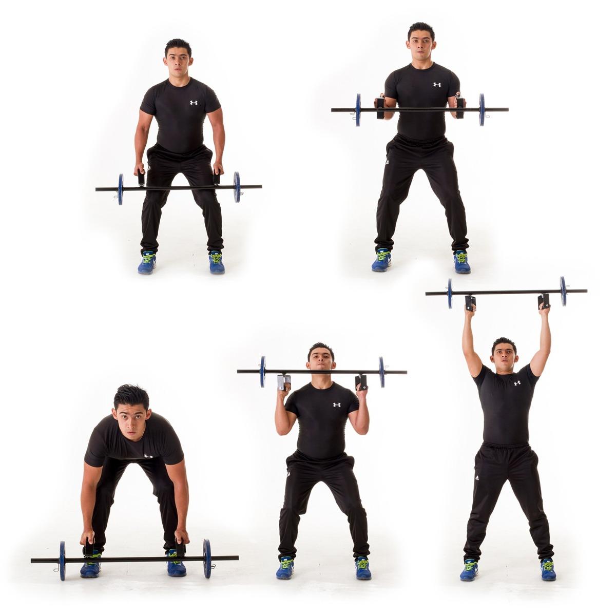 Barra de pesas funcional mas de 20 ejercicios gym en mercado libre - Barras de ejercicio para casa ...