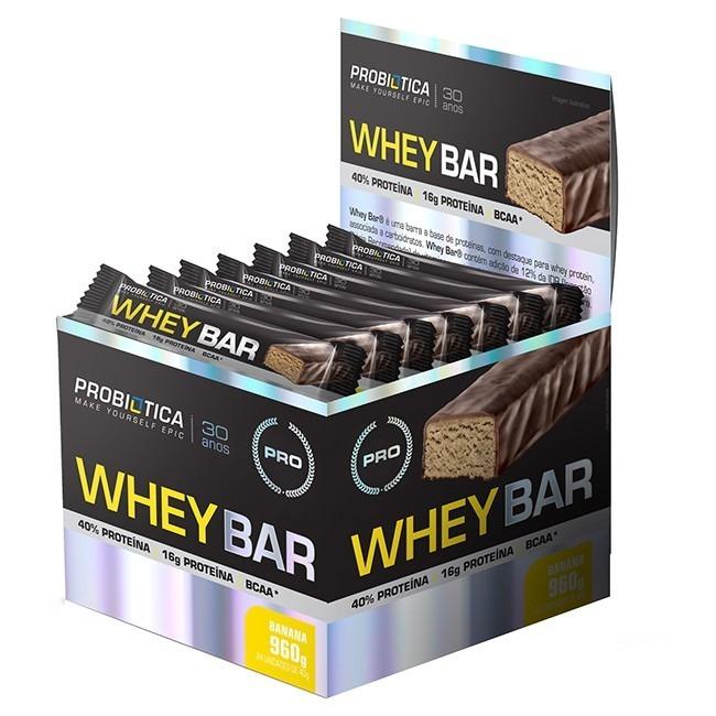 81e6b13de Barra De Proteina Caixa Whey Bar Melhor Que On - 24 Unidades - R  80 ...