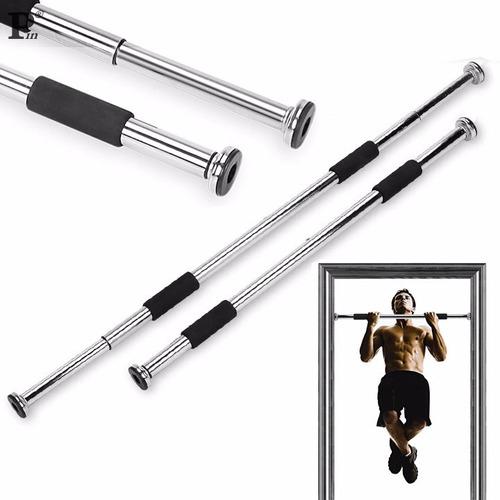 barra de puerta dominadas cromada extensible gym pectorales