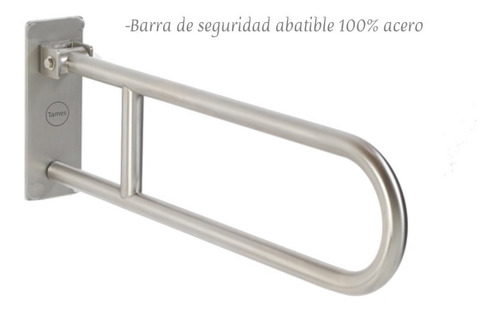 barra de seguridad abatible - acero inoxidable institucional