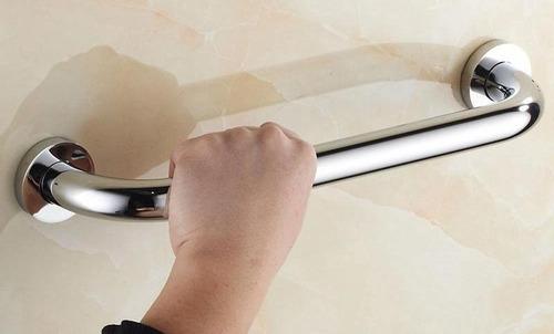 barra de seguridad para baño 40 cm  1 pg  acero inoxidable
