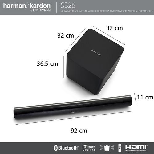 barra de sonido 2.1 canales harman kardon sb26