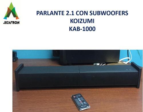 barra de sonido 2.1 con subwoofers koizumi kab-1000