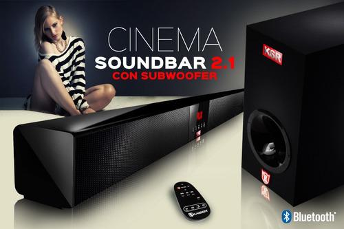 barra de sonido cinema soundbar 2.1 con super subwoofer