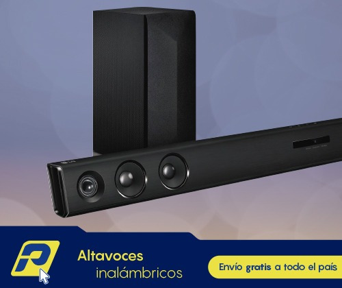 barra de sonido lg bluetooth + subwoffer wireless + soporte