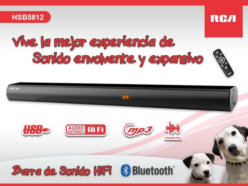 Barra De Sonido Marca Rca Bluetooth Aux Optical Radio Fm Usb