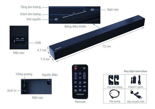 barra de sonido samsung soundbar hw-j250 bluetooth 80w 2.1