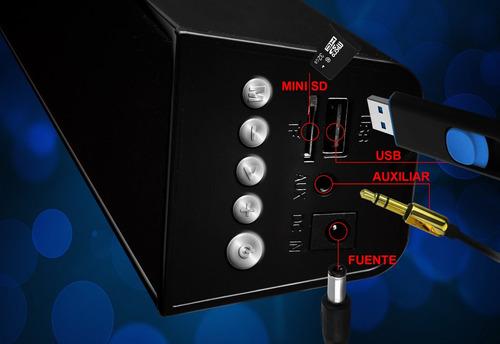 barra de sonido soundbar 2 canales bluetooth usb fm 3000w