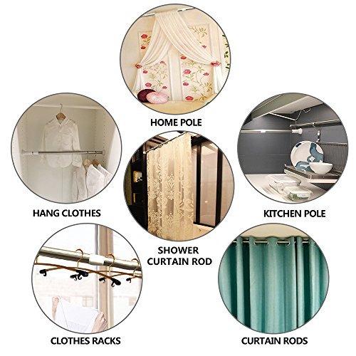 barra de tensión ducha cortina barra ajustable primavera te