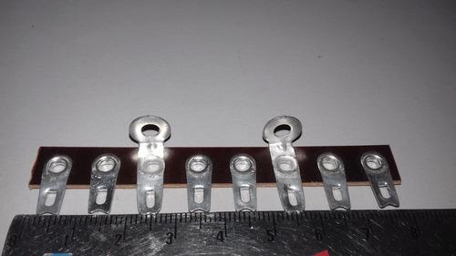 barra de terminais radio valvulado 8 terminais stampex