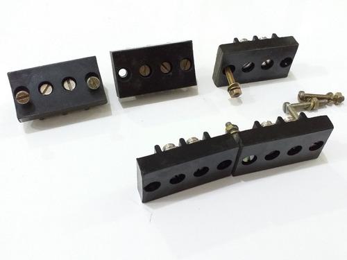 barra de terminal baquelite borne com 2 bornes 38mmx21mm
