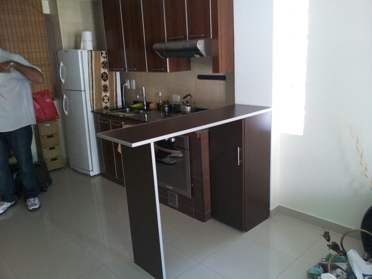 Barra, Desayunador, Cantos De Aluminio, Mueble Con Estantes ...