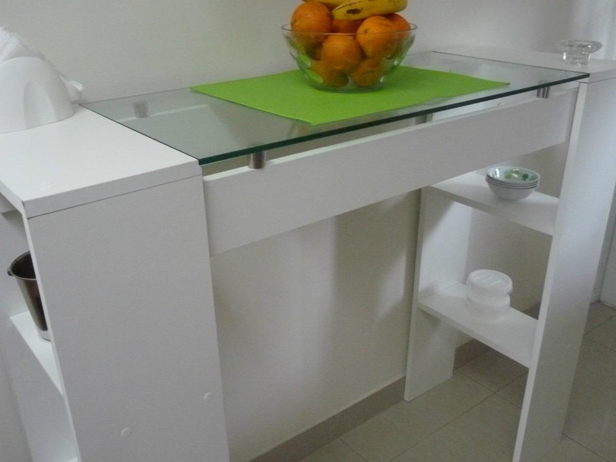 Mueble barra cocina durlock muebles cocina buscar con for Mesa abatible conforama