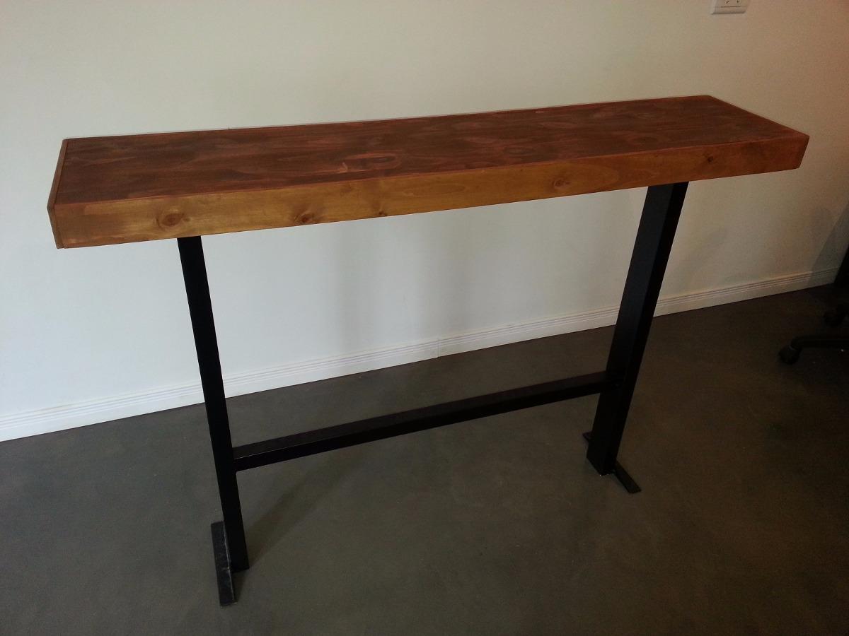 Mesas altas de madera top desayunador butacas y mesa for Mesa alta madera bar
