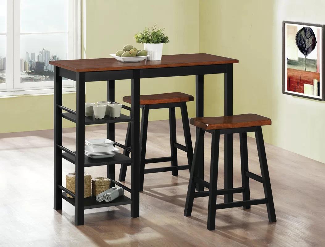 Barra desayunador mesa cocina metal madera industrial for Mesa industrial de madera y metal