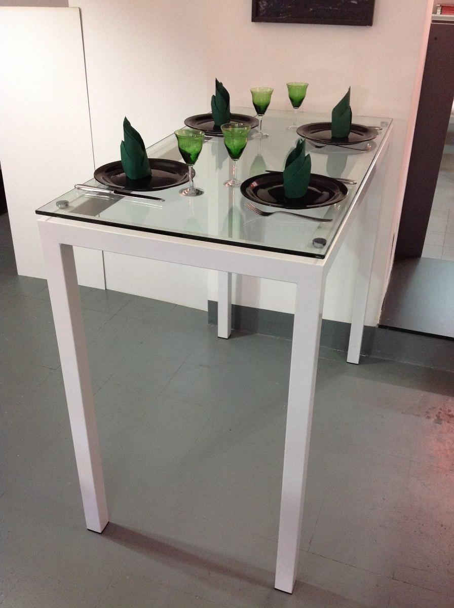 Mesas De Cocina Tipo Barra. Mesa De Cocina Extensible De Cristal Con ...
