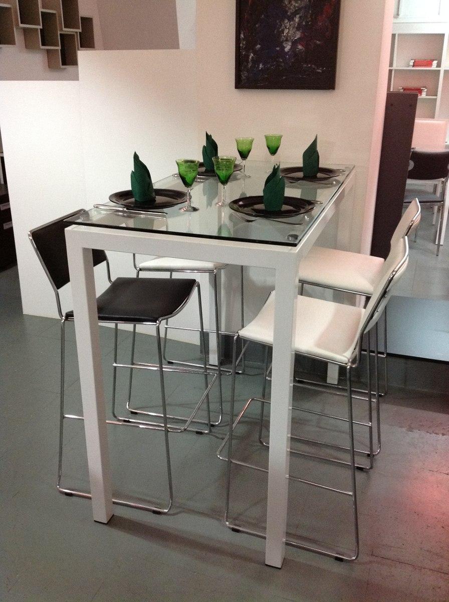 Barra Desayunador Mesa De Comedor Alta Para 4 - $ 17.680,00 en ...