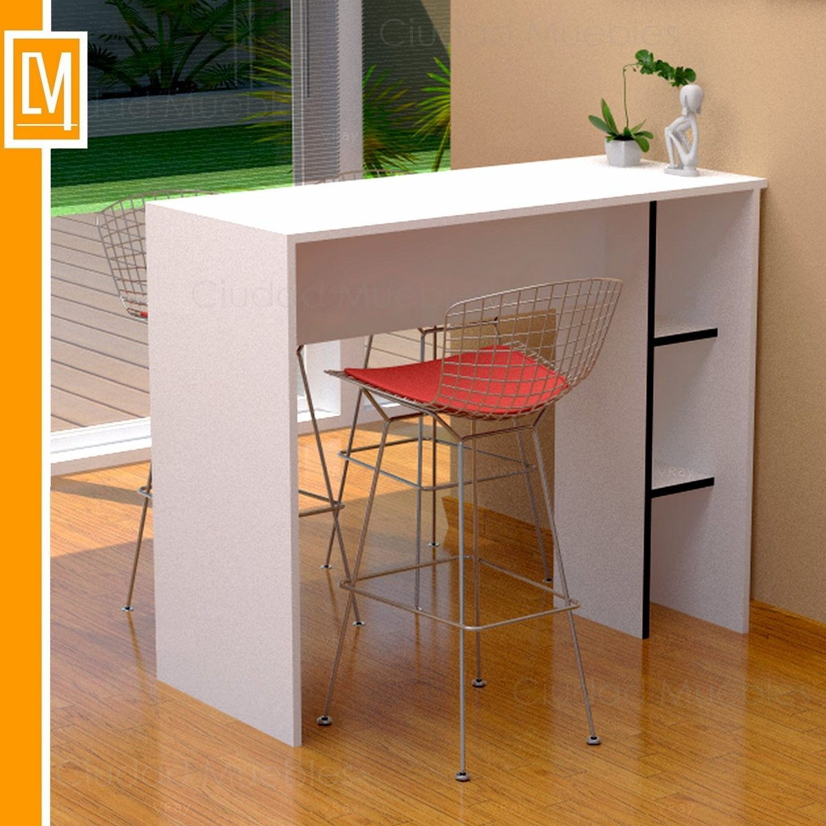 Barra cocina barra desayunador mueble de cocina cm de for Mueble barra cocina
