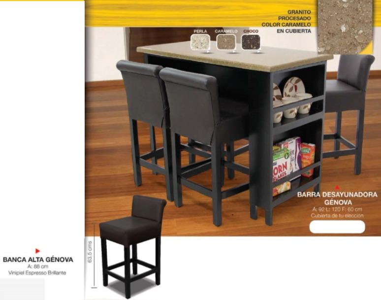 Barra desayunadora 4 sillas 5 en mercado libre for Comedor tipo barra