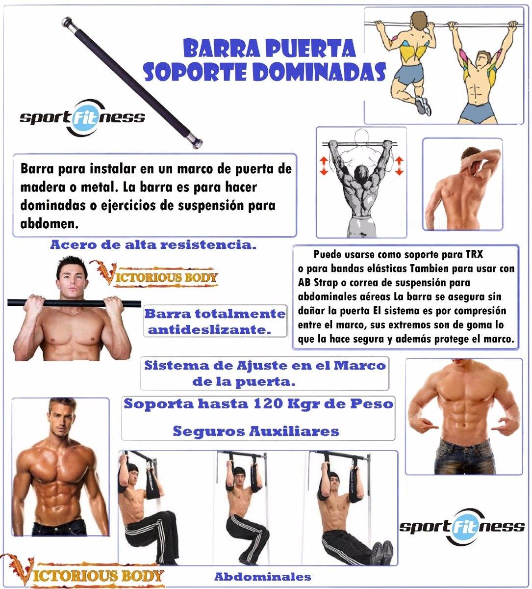 Barra Dominadas Soporte Marco De Puerta Sport Fitness Barra ...