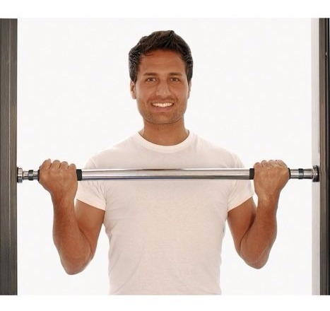 barra extensible para marco de puerta - mir fitness