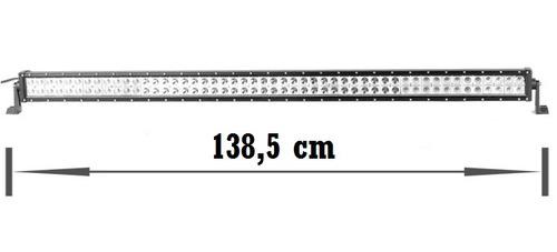 barra faro led alta potencia 1,40mt 300 w 21000 lm+ anclajes