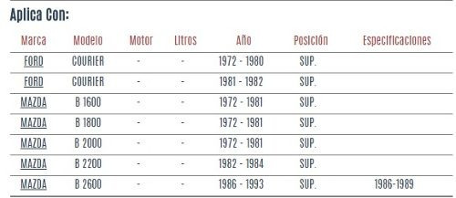 barra horquilla superior mazda b2000 1972 - 1981 vzl