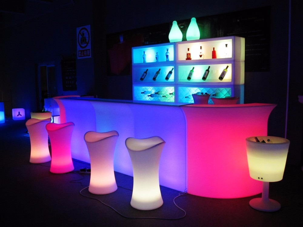 Barra iluminada led rgb sala lounge mesa bar envio gratis - Barras de bar iluminadas ...
