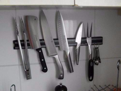 barra imantada o magnetica iman para cuchillos 28cm