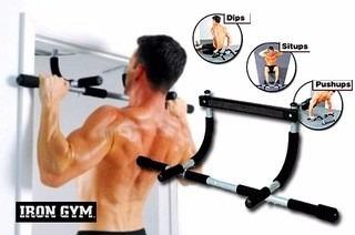 barra iron gym  multifuncional biceps triceps pectorales