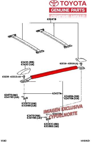 barra izquierda parrilla de techo 4runner 03-08 original