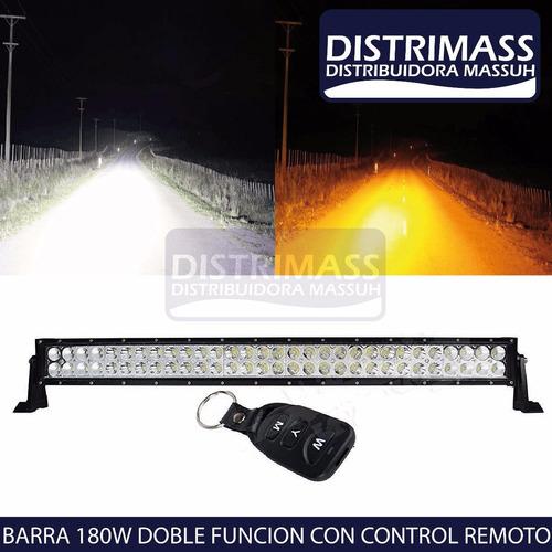 barra led 180w doble color con control remoto impermeable