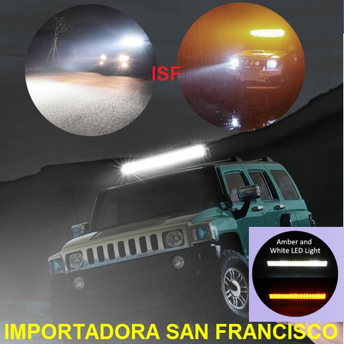 barra led 180w doble color  neblina viajes - tuning 4x4