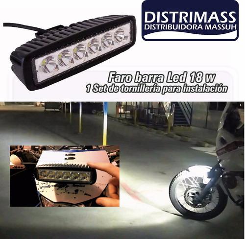 barra led 18w ip67 fuerte para todo carro inc iva y garantia