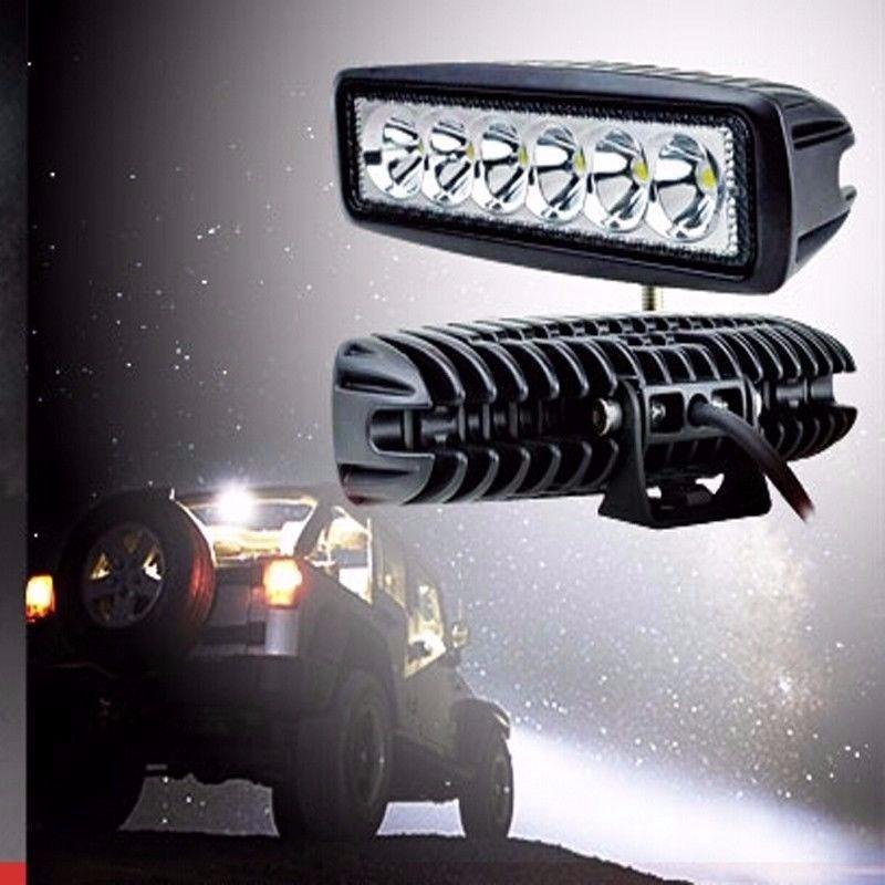 barra led 18w neblineros para moto auto camioneta camion. Black Bedroom Furniture Sets. Home Design Ideas