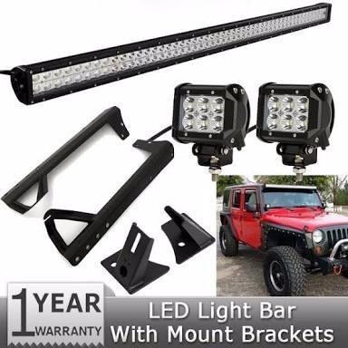 barra led 240w para jeep