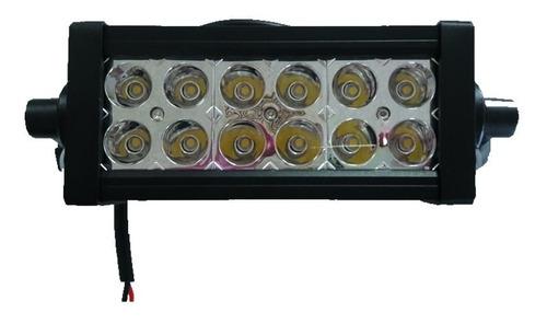 barra led 36w 12 leds rectangular