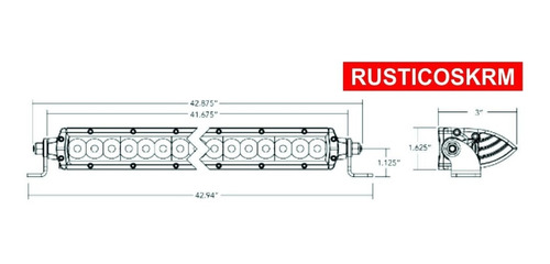 barra led 40 pulgadas delgada modelo sr series hibrida rigid