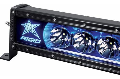 barra led 40 pulgadas rigid industries radiance luz de fondo