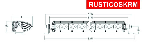 barra led 50 pulgadas delgada modelo sr series hibrida rigid