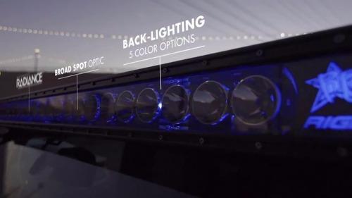 barra led 50  rigid industries radiance + jeep wran original